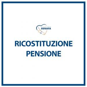 ricostituzione pensione online denafa caf patronato studio legale